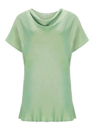 Nocturne Dökümlü Yaka Bluz Yeşil